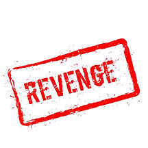 revenge-red-rubber-stamp-isolated-white-