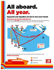 Water Taxi Flyer Year Round service 2019