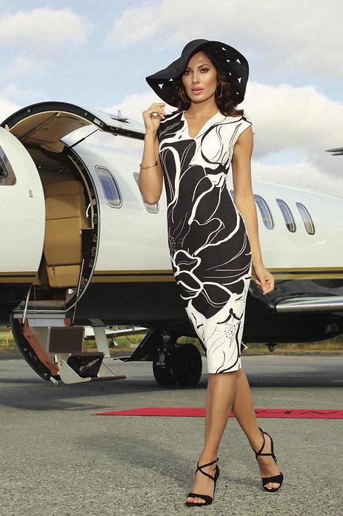 Sleek Print Dress
