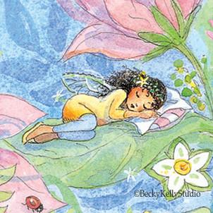 Sweet Sleeping Fairy Art