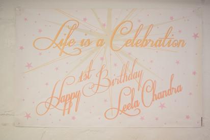 Life is a Celebration   1st Birthday