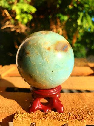 Onix verde azulado esfera