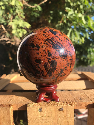 Obsidiana Caoba esfera XL