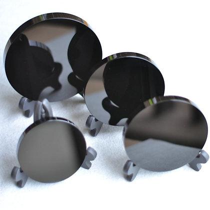 Espejo Obsidiana con base