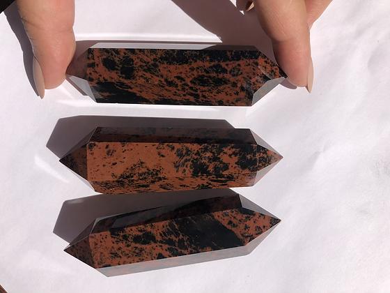 Obsidiana Caoba doble punta