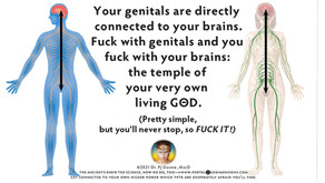 Your genitals are connected to your brains. Fuck with genitals and you fuck with your temple of GΘD.