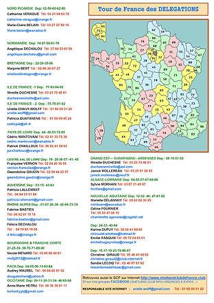 Carte des Délégations SCF