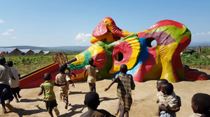 Playground structure funded via ShadowmanVan at Nakivale