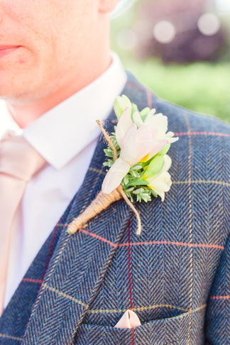Grooms button hole by Ruby Doodles, Cheshire Florist