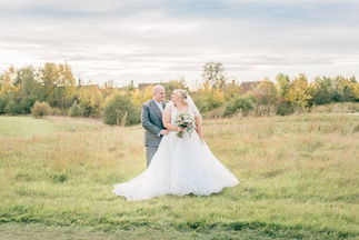 Bride and Groom portraits at Wychwood Park, Cheshire