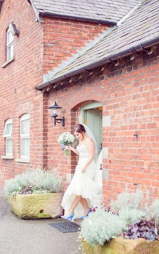 Sandhole Wedding Bride walking