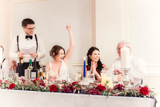 Top table at Tilstone House Cheshire wedding venue