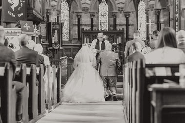 Bride and Groom church service