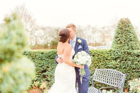 Bride and Groom, Sandhole Oak Wedding Venue