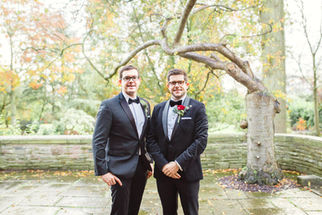 Cheshire wedding, Groom and brother