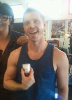 Jake Shears with our Sponge