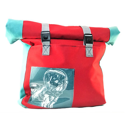 RED/TURQUOISE TOTE BACKPACK