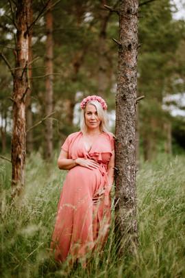 10. Persikofärgad långklänning