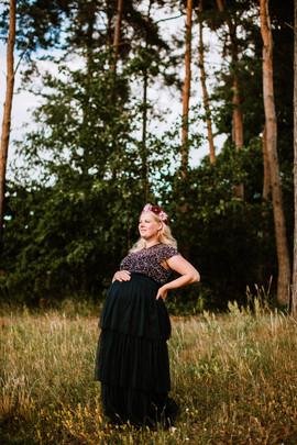 17. Mörkblå Paljettklänning