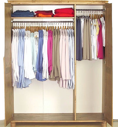 space saving wardrobe hack