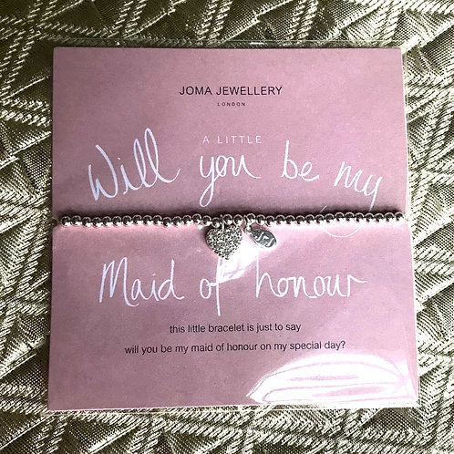 Joma Jewellery - Will you be my Maid of honour?