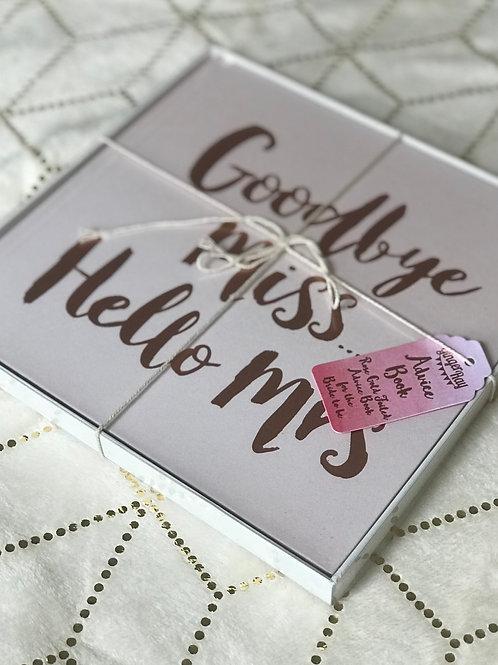 Goodbye Miss... Hello Mrs -  Advice Book