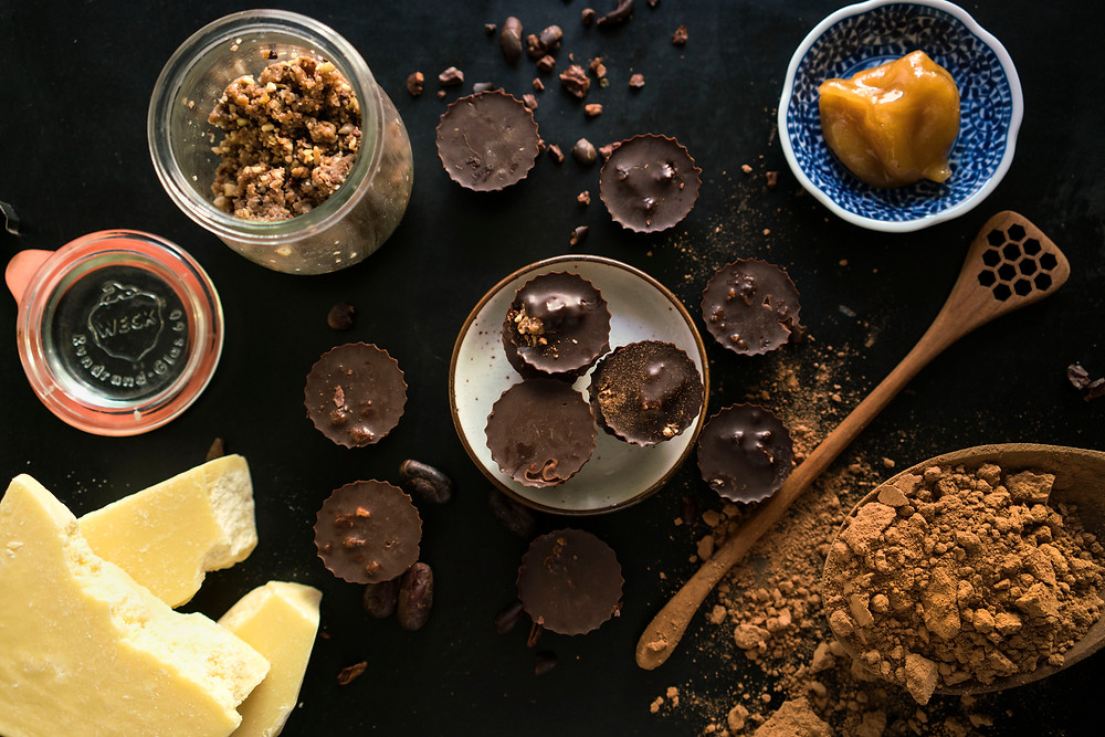 Superfood nut butter cups mis-en-place