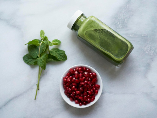 Spinach Pomegranate Mint Juice