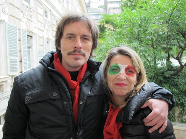 12 MARZO 2011 - GENOVA DEI MILLE - CON ALLOISIO E DE SCALZI Guido e Cinzia.jpg