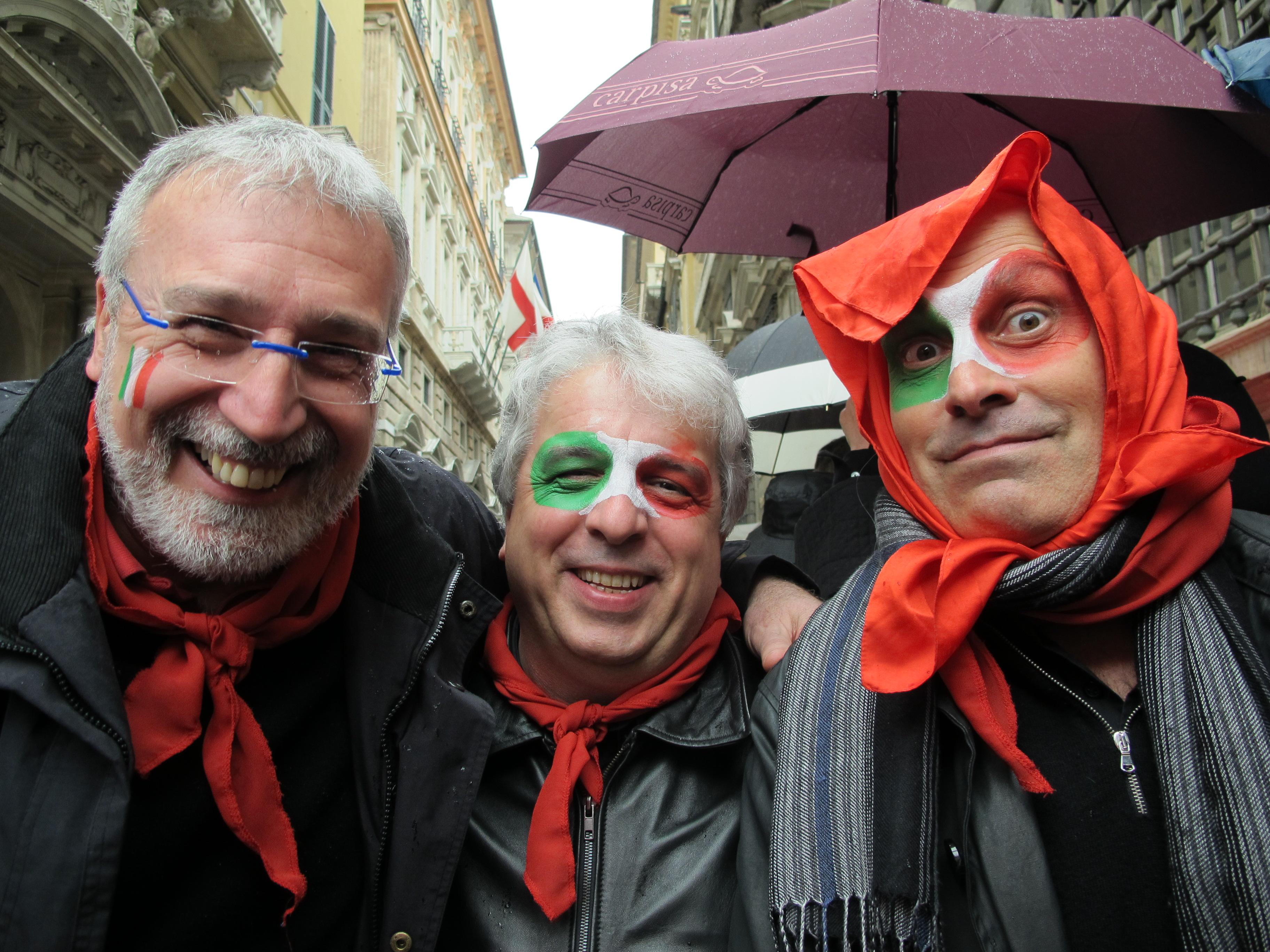 12 MARZO 2011 - GENOVA DEI MILLE - CON ALLOISIO E DE SCALZI Micche - Pier - Serg