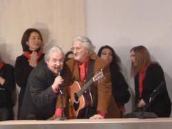 12 MARZO 2011 - GENOVA DEI MILLE - CON ALLOISIO E DE SCALZI Alloisio e Vittorio.