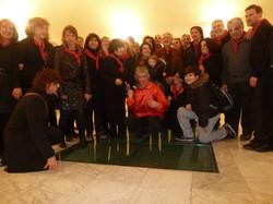 12 MARZO 2011 - GENOVA DEI MILLE - CON ALLOISIO E DE SCALZI gruppo con Gianni.jp