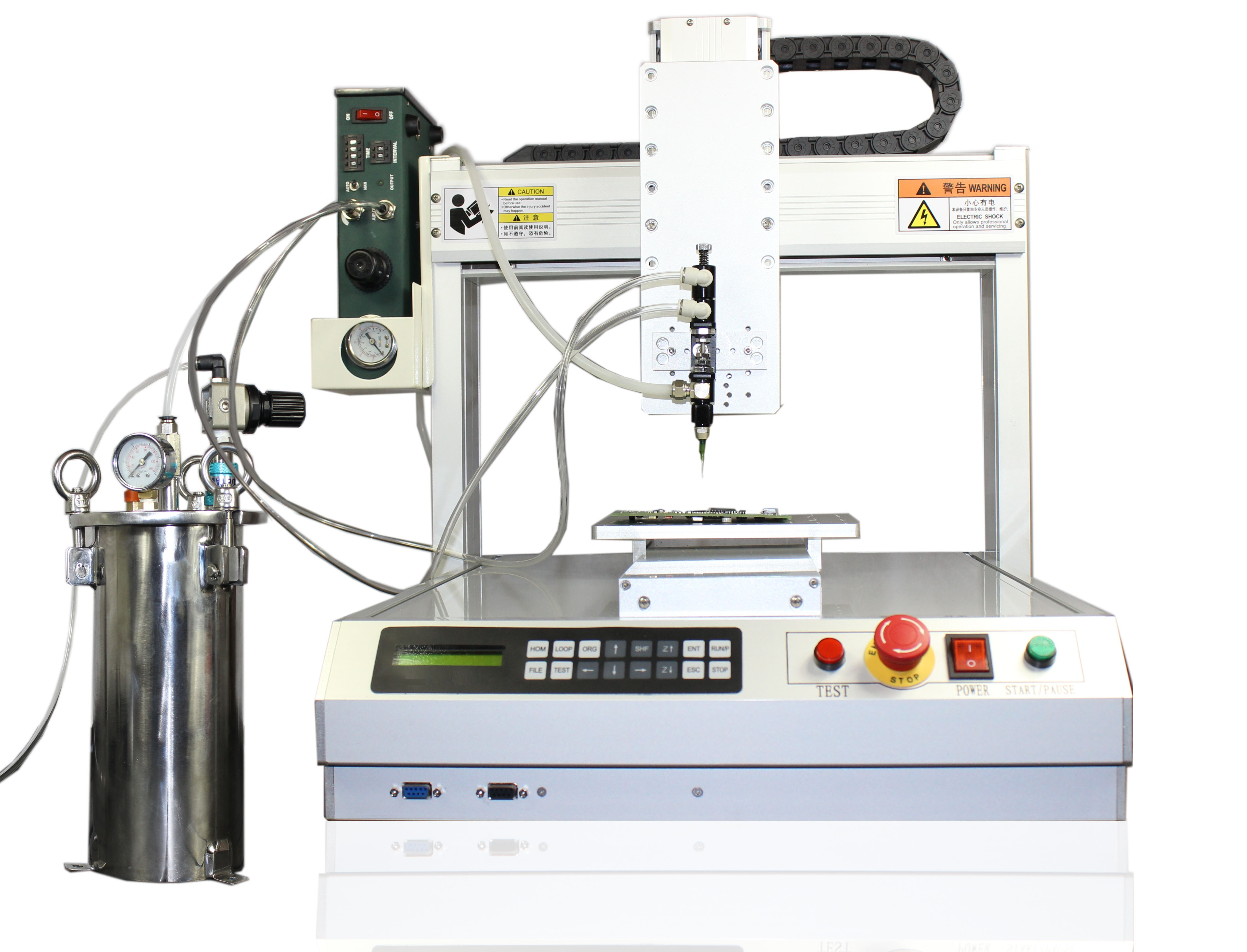 AIE_3_4_Axis_Robots_With_Pressure_Tank_Precision_Valves_Dispensing_For_Glues_Adhesives_Fluids