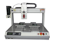 AIE_Dual_Stages_Y_Dispensing_Robots_With_Single_30cc_Barrels_Pneumatic_Dispenser