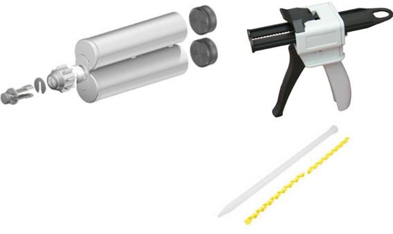 AIE-Dual component dispenser_Dual cartridge_Static Mixer
