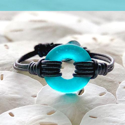 Coastal Teal Signature Beach Glass Bracelet