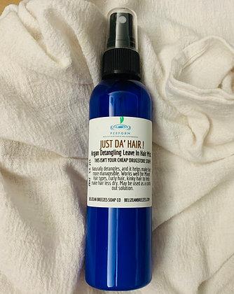 """LRG """" Just Da Hair"""" leave in Detangling  Argan Oil Spray"""
