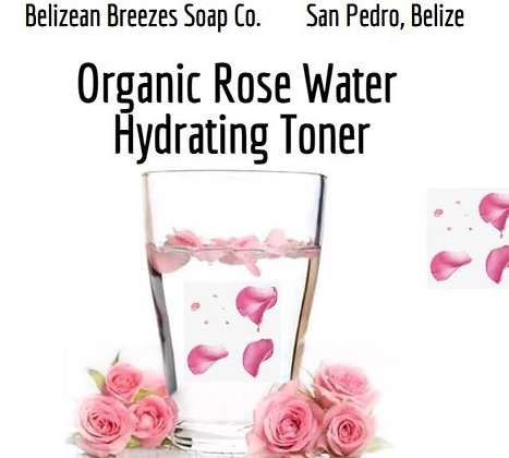 Organic Rose Water Hydrating Facial Toner