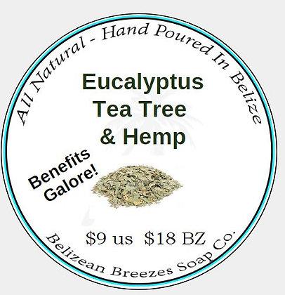Eucalyptus Tea Tree & Hemp!-Large Bar- BODY SOAP BAR