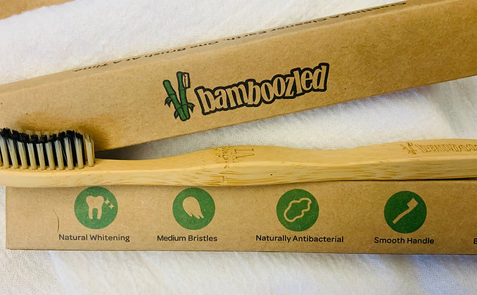All natural whitening toothbrush bamboo-charcoal