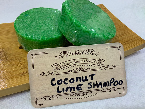 Coconut Lime Shampoo Bar for DRY HAIR