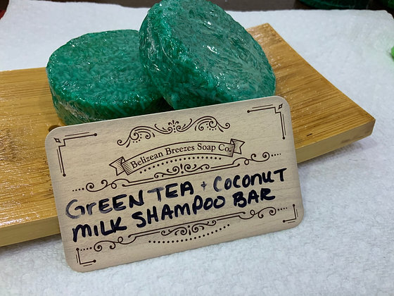 Green tea coconut milk shampoo bar DRY HAIR