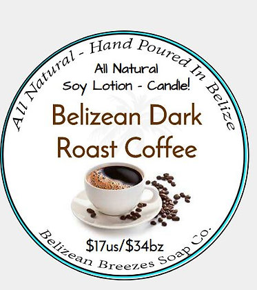 Lotion Candle: Belizean Dark Roast Coffee