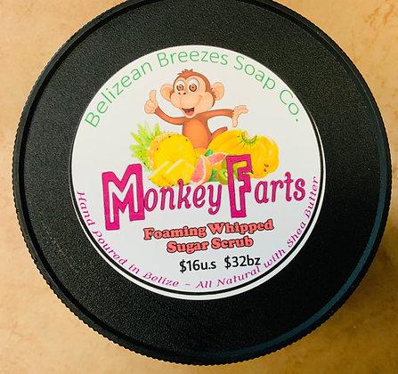 Monkey Farts! Foaming whipped sugar scrub