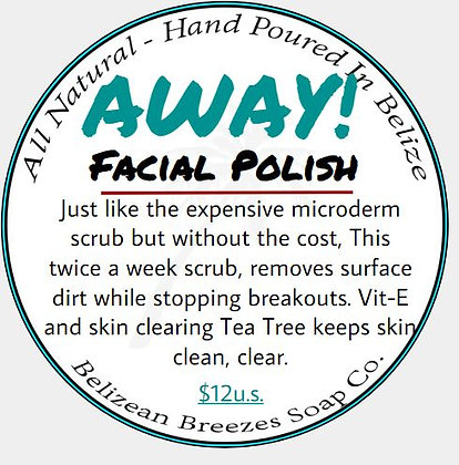 AWAY Microderm Facial Scrub w/ Tea Tree