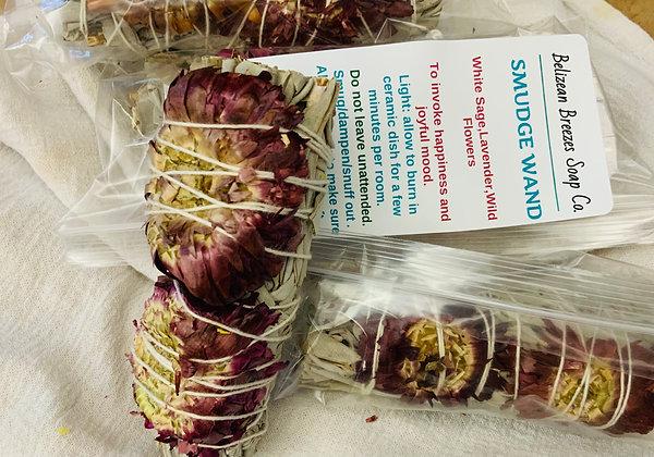 Smug stick. White sage, lavender, and wildflowers