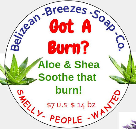 Got A Burn-Aloe Lotion Soothe That Burn!