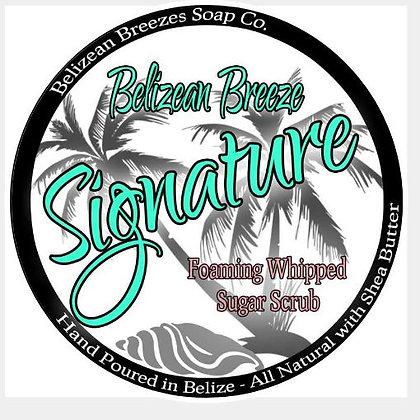 Belizean Breezes Signature Scent Foaming Whipped Sugar Scrub  Ocean in a jar!