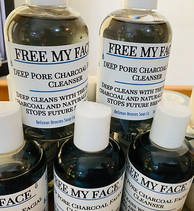 FREE my face Charcoal liquid cleanser