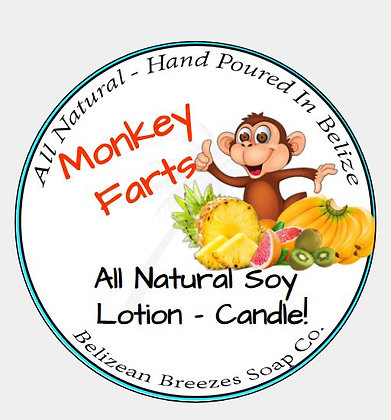 Monkey Farts Lotion Candle!
